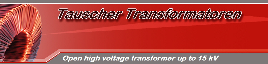 Open high voltage transformer up to 15 kV