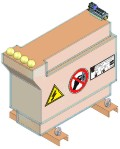 High potential/high voltage transformer up to 40 kVDC isolating voltage