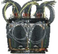 Three-phase transformer for 12 pulse rectification